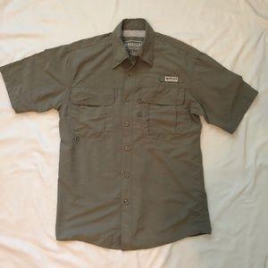 MAGELLAN SPORTSWEAR Vented SS Fishing Shirt Khaki